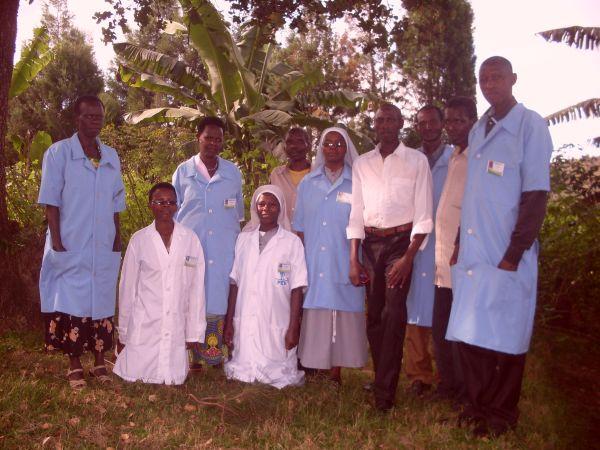 Gli operatori sanitari a Busoro
