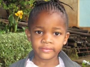 Una bambina della scuola